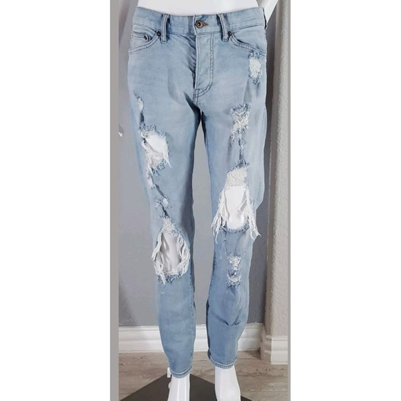 big selection fashion style sale usa online H&M Women's Slim Ripped Light Wash Jeans - 32